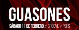 Guasones hará su primera presentación del 2017 en CABA el sábado 11 en Groove. La fecha será entre los shows en Baradero Rock y Cosquín Rock.