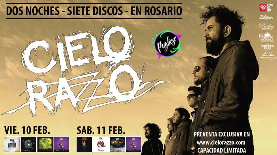 Cielo Razzo dará dos shows en el Teatro Pugliese de Rosario, donde recorrerá toda su discografía. Las funciones serán el viernes 10 y sábado 11 de febrero.