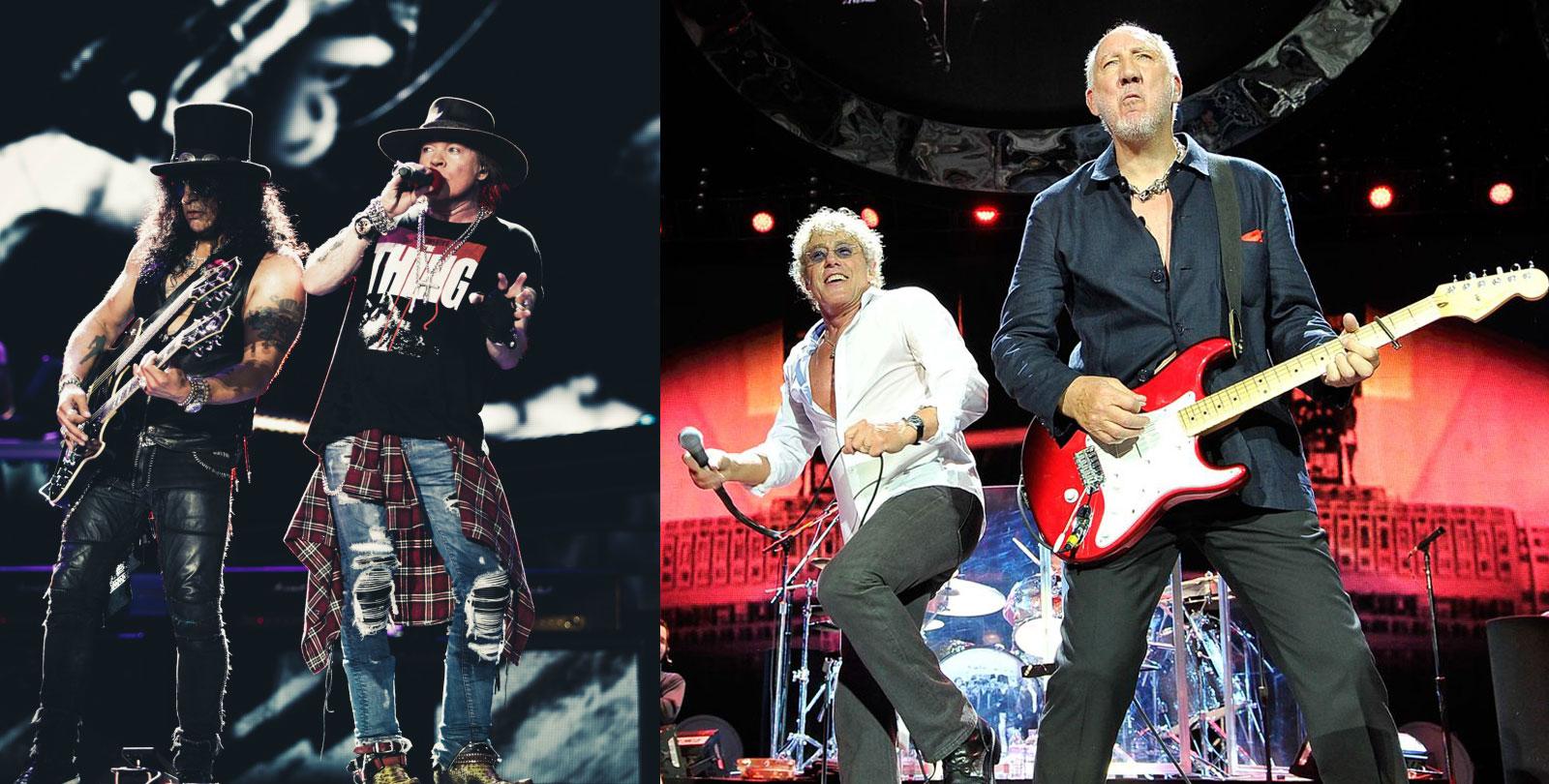 Guns N Roses y The Who en La Plata