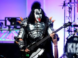 BEVERLY HILLS, CA - APRIL 15: Musician Gene Simmons of KISS performs onstage during the 23rd Annual Race To Erase MS Gala at The Beverly Hilton Hotel on April 15, 2016 in Beverly Hills, California. (Photo by Frederick M. Brown/Getty Images for Race To Erase MS)