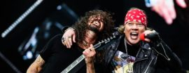 Axl Rose y Dave Grohl, Guns N' Roses y Foo Fighters juntos.
