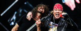 Axl Rose y Dave Grohl, Guns N' Roses y Foo Fighters juntos.