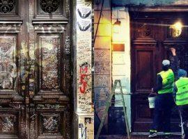 Pintaron la puerta de la casa de Luca