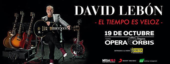 David Lebón en concierto: El tiempo es veloz