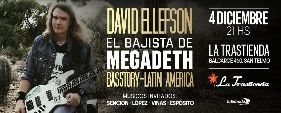 Dave Ellefson en Argentina