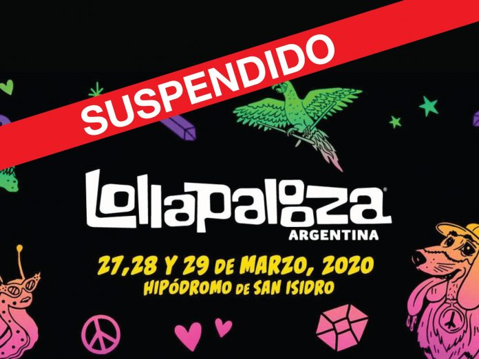 Lollapalooza Argentina 2020 suspendido