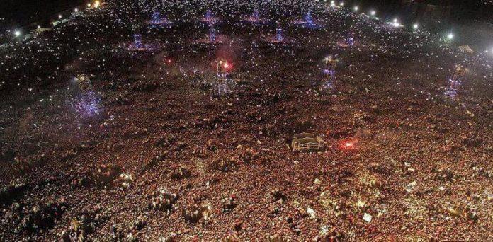 Algo más de 400.000 almas, se dieron cita en el predio de La Colmena, Olavarría. 17/03/17 (Foto: Pablo Hugo Funes)