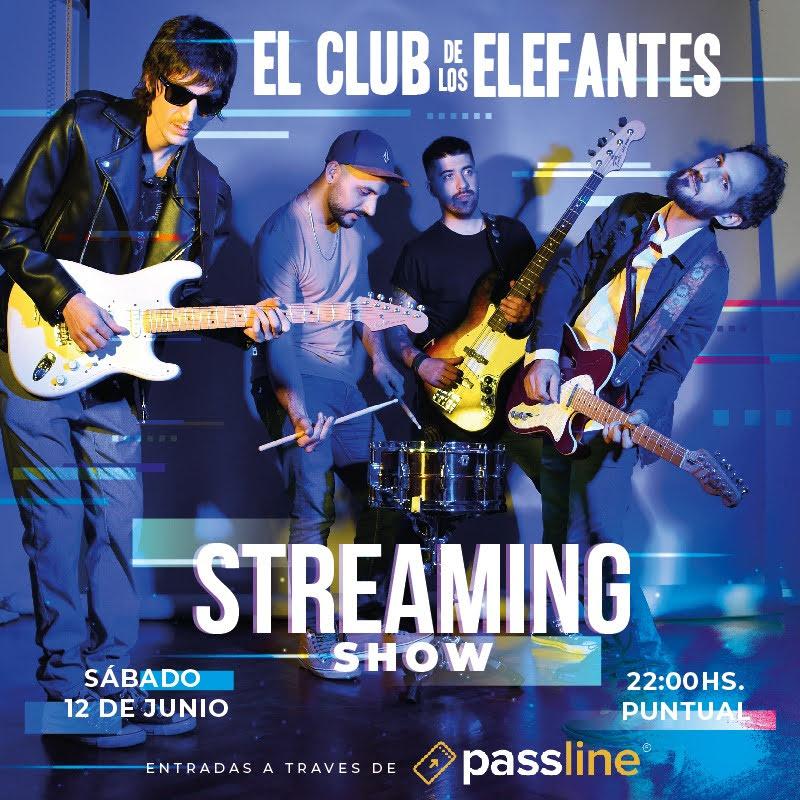 Flyer del streaming de El Club De Los Elefantes